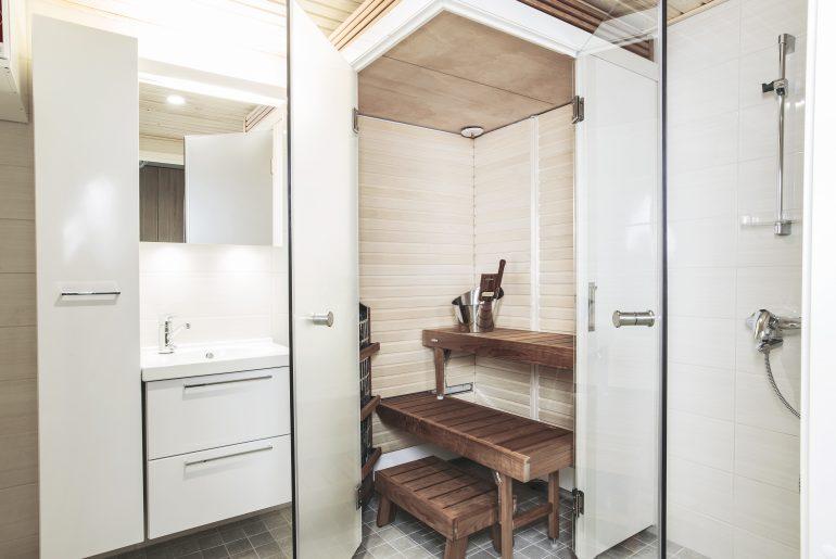 Space Saving Saunas For A Wooden Apartment Building Harvia Sauna Spa
