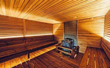 Im Sportzentrum wurde eine gemütliche Sauna eingerichtet