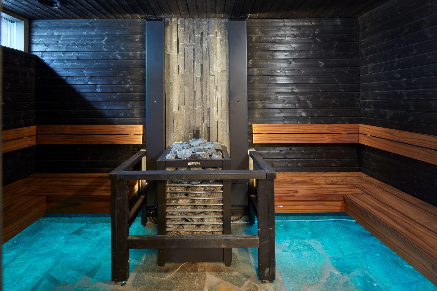 Villa Mikaelin saunan sisustus