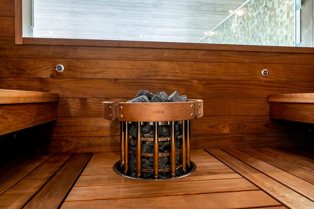 Harvia sauna ja pilarikiuas Villa Fortuna Asuntomessut 2020