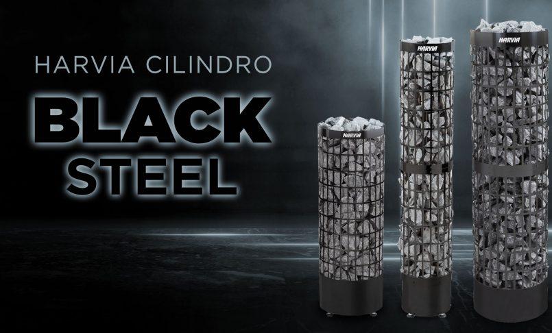 Harvia Cilindro Black Steel